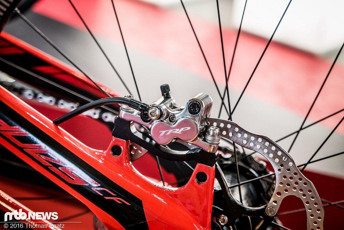 Der Bremssattel - äußerlich unverändert gibt es Neuerungen im Inneren