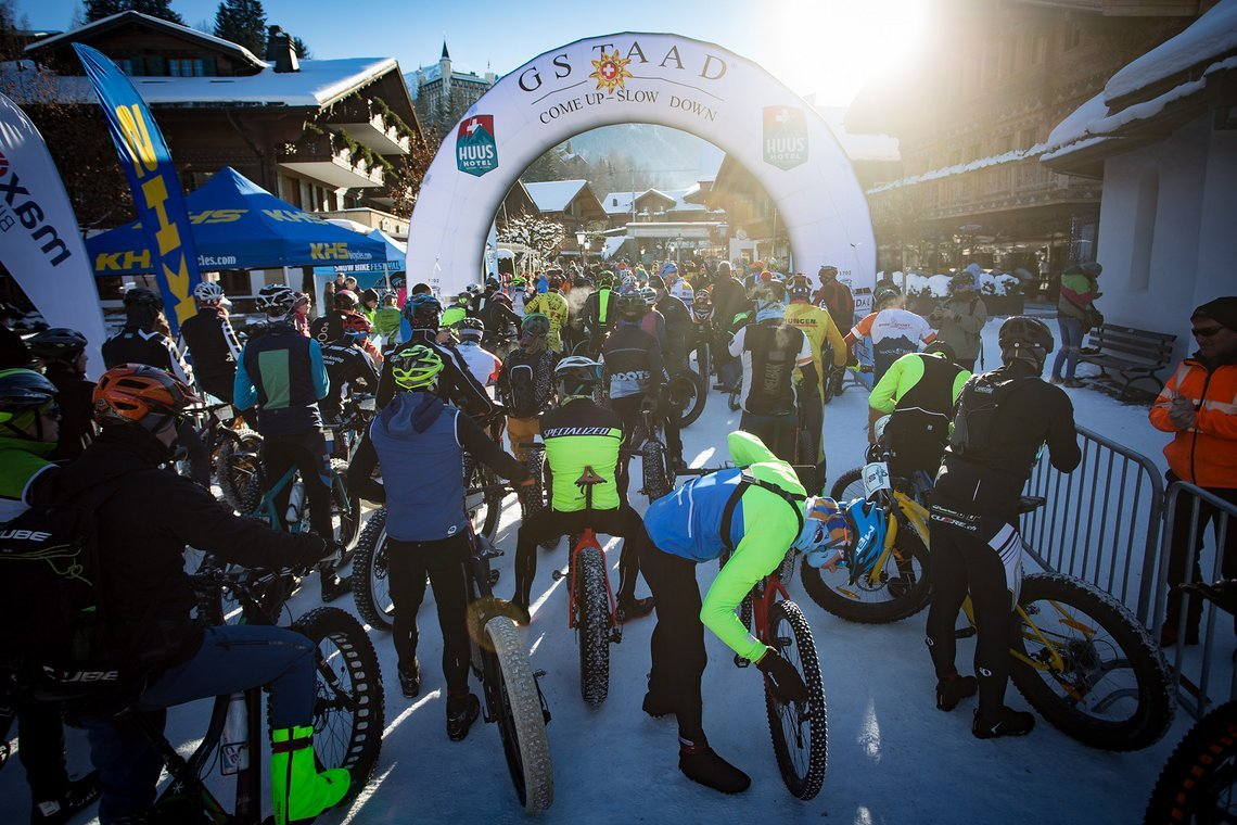 Start auf der Promenade von Gstaad Stage 2