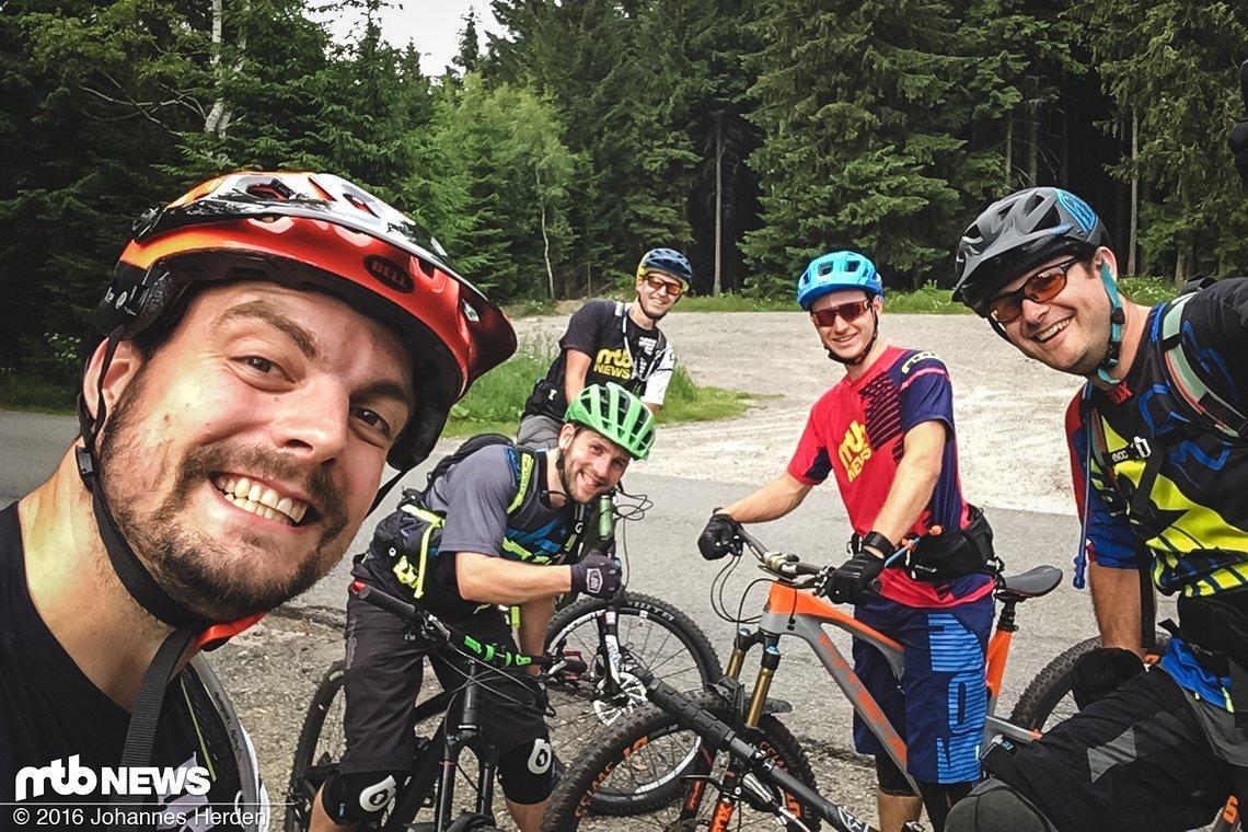 Damit sich Marcus ans Bike gewöhnt: Kleine Runde am Freitagabend, um die Beine nach der langen Fahrt für das Rennen zu lockern