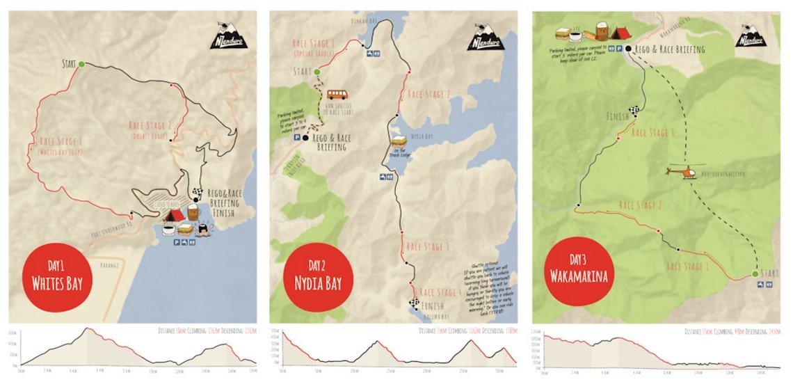 Die geplanten Routen beim NZ Enduro 2017