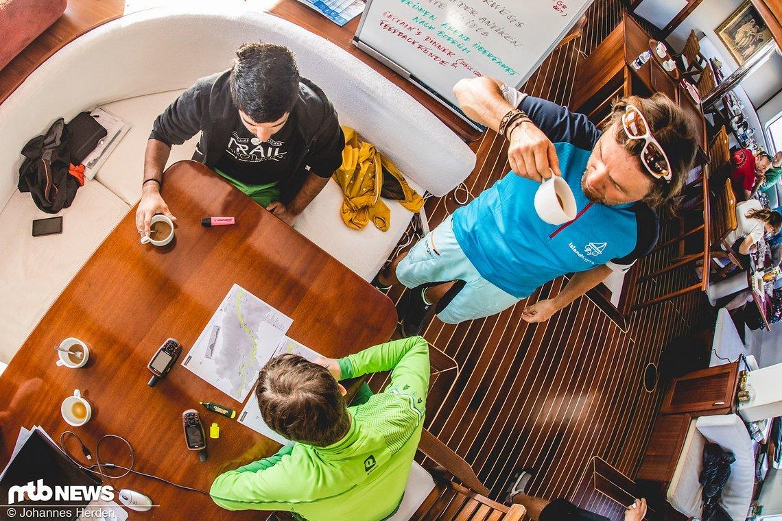 Planung der Guides - das wird die heutige Tour