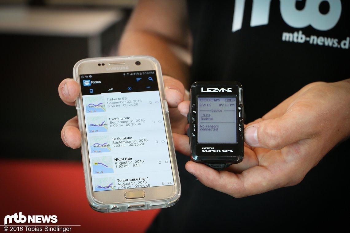 Über eine App können alle aufgezeichneten Ausfahrten auf dem Handy angeschaut werden.