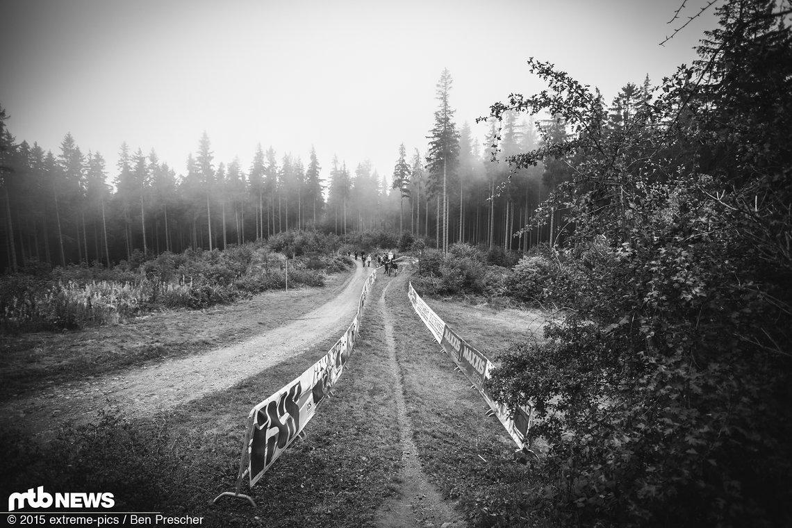 Track Walk Ilmenau - noch ist es nass und ruhig