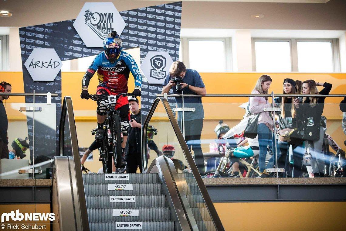 Nach einer Verletzung am Knie stand Tomas Slavik in Budapest das erste Mal am Start, konnte aber von Beginn an mit einem soliden Speed überzeugen
