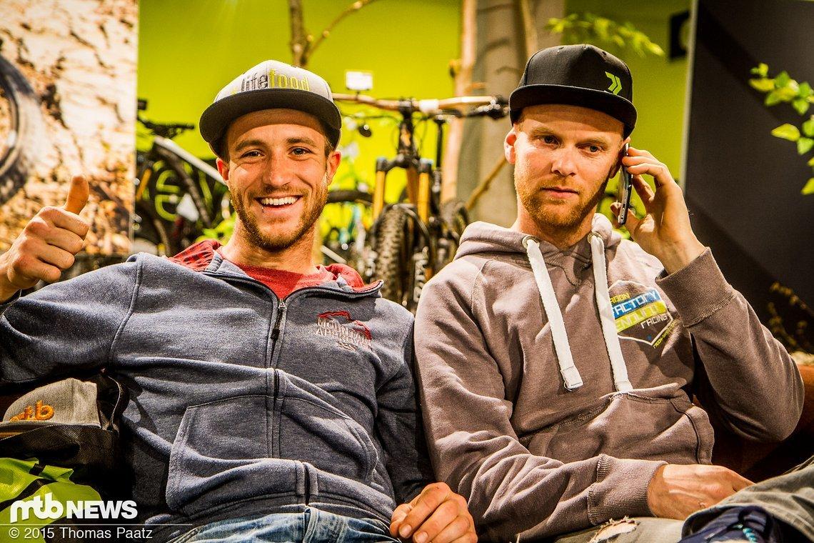 Früher Konkurrenten, jetzt Fahrer und Teammanager: Fischi und Joost