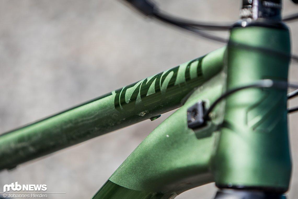 Das grüne Eloxal hinterlässt einen hochwertigen Eindruck