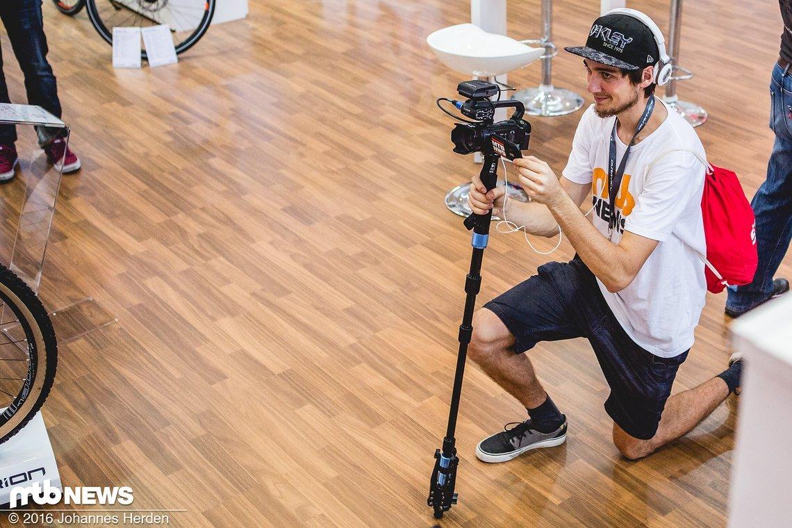 Der glamouröse Job eines MTB-News Filmers