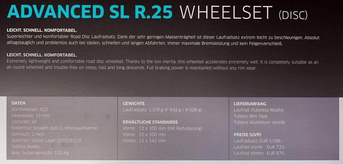 Advanced SL R.25 Details