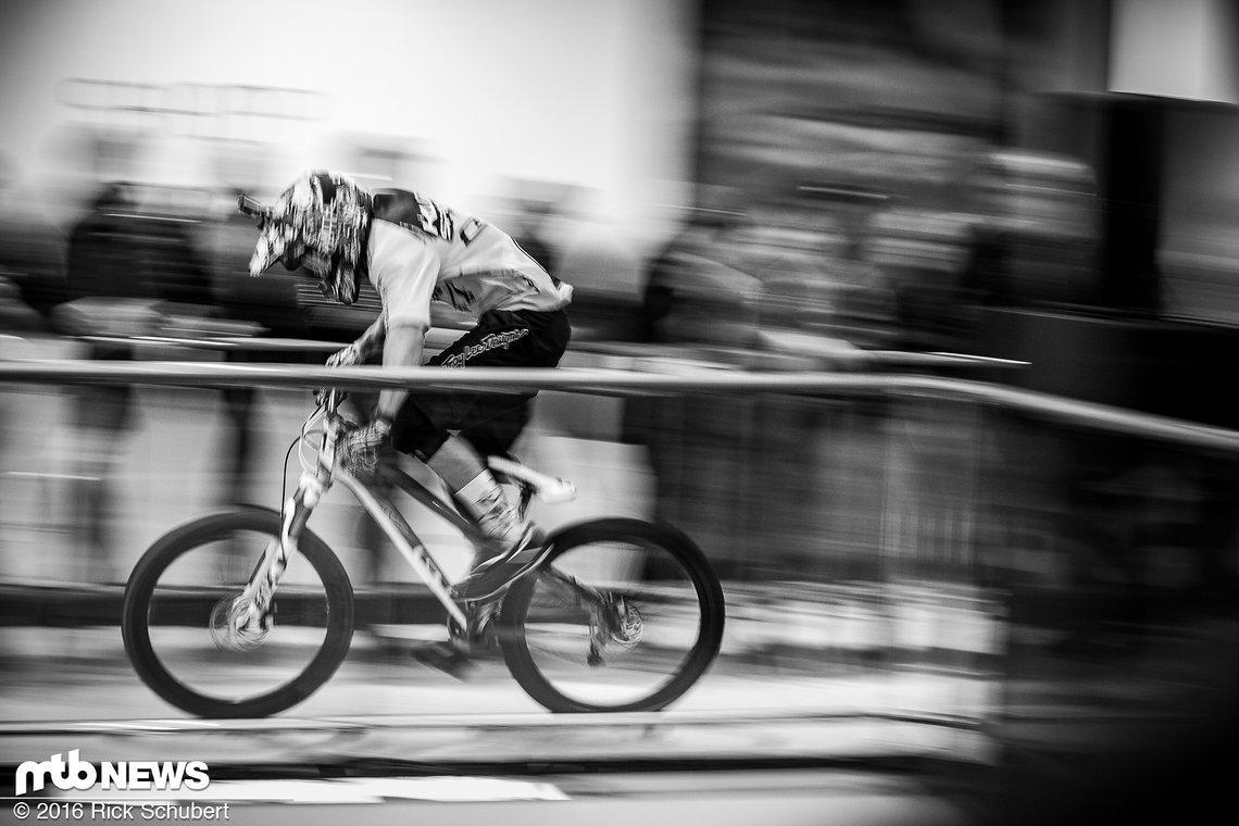 Hynek Strouha sprintet in Richtung Ziel