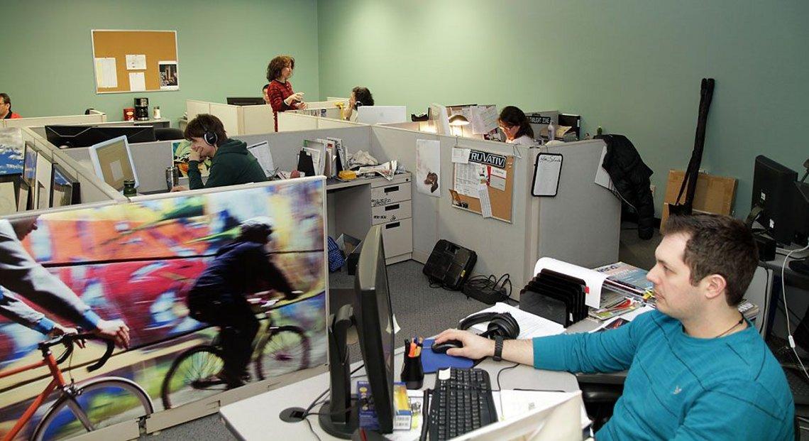 Im Sales Office von Norco