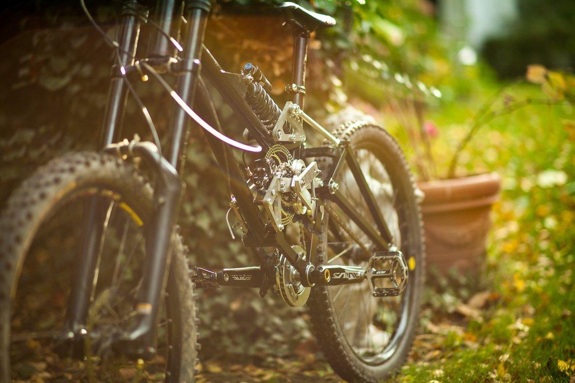 """100% anders: Mein Eigenbau, den ich zärtlich """"Die Maschine"""" nenne, unterscheidet sich in doch einigen Punkten von einem konventionellen Mountainbike"""