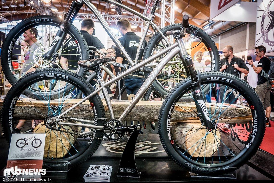 """Why Cycles TF - Dirtjump-Rahmen aus Titan für 27,5"""" Laufräder mit horizontal verschiebbaren Ausfallenden sowie Gates-kompatibel"""