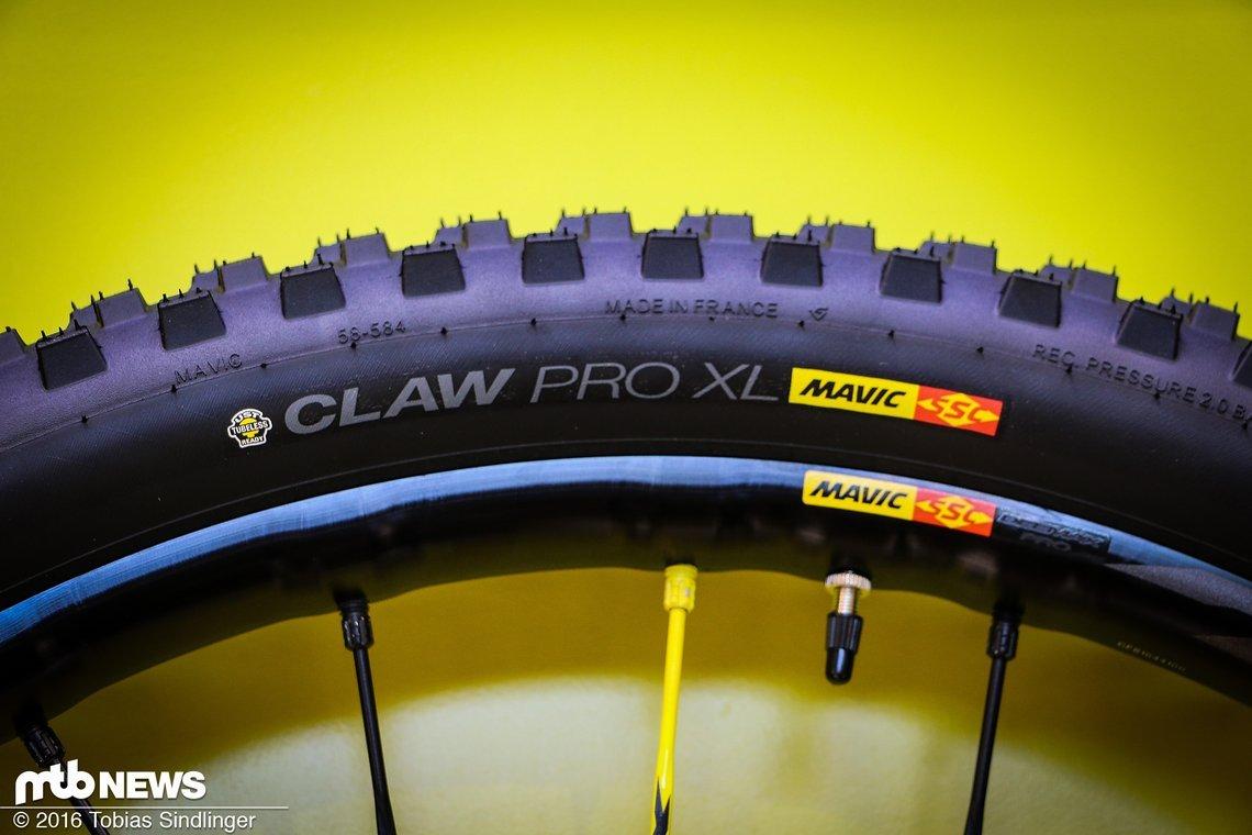 Der Claw Pro XL ist ideal für ein breites Felgenbett