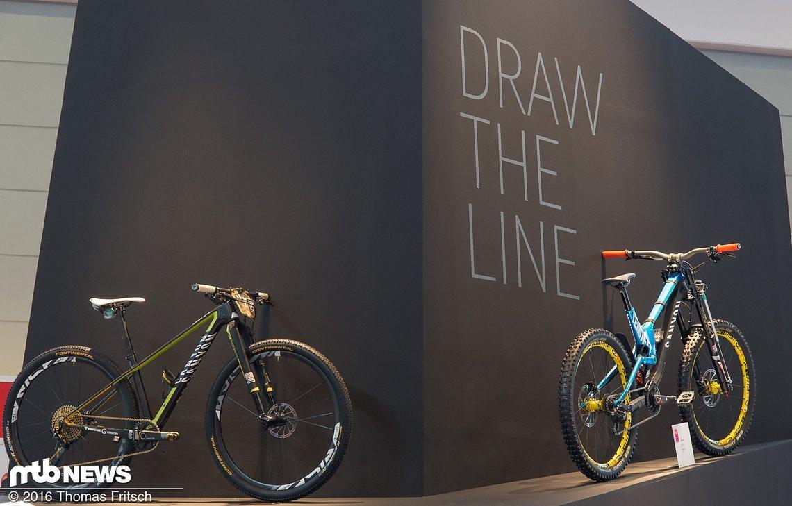Zwei Racebikes, wie sie unterschiedlicher nicht sein könnten: Canyon Exceed und Sender