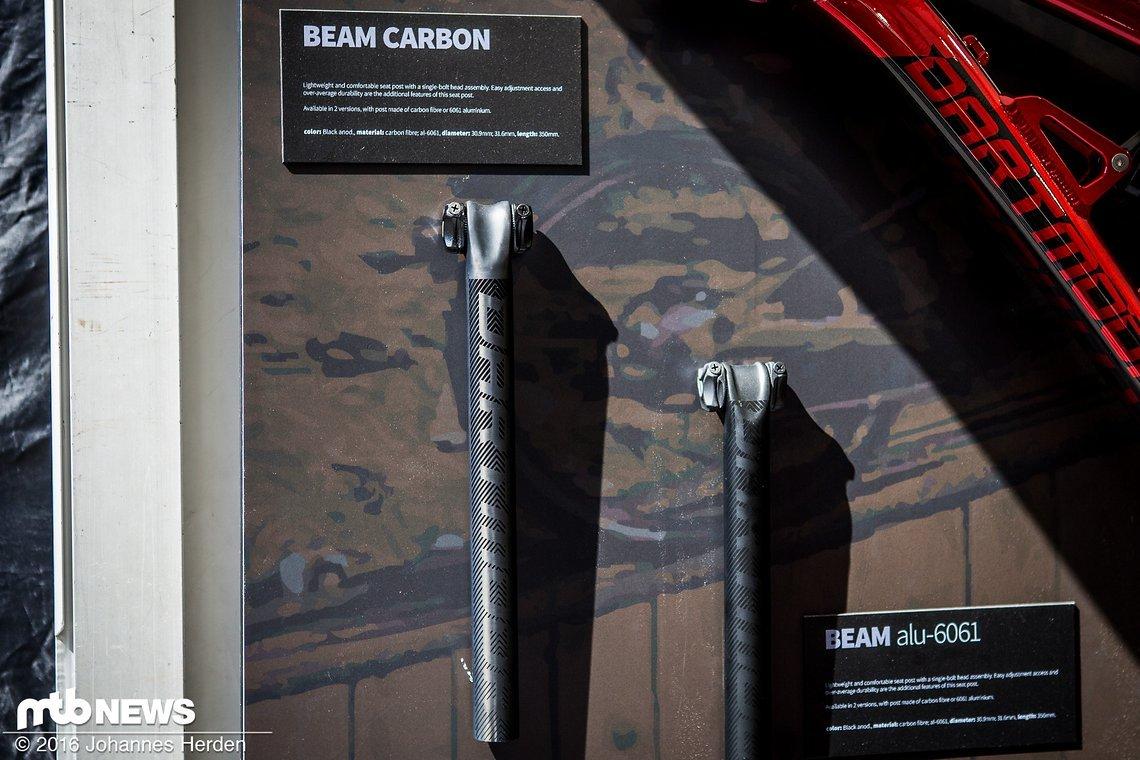 350 mm Länge, 30.9 & 31.6 mm Durchmesser und Carbon oder Alu