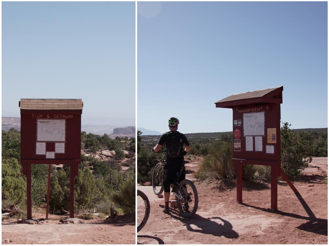 Links der falsche Trail, rechts der richtige. Shit Happens