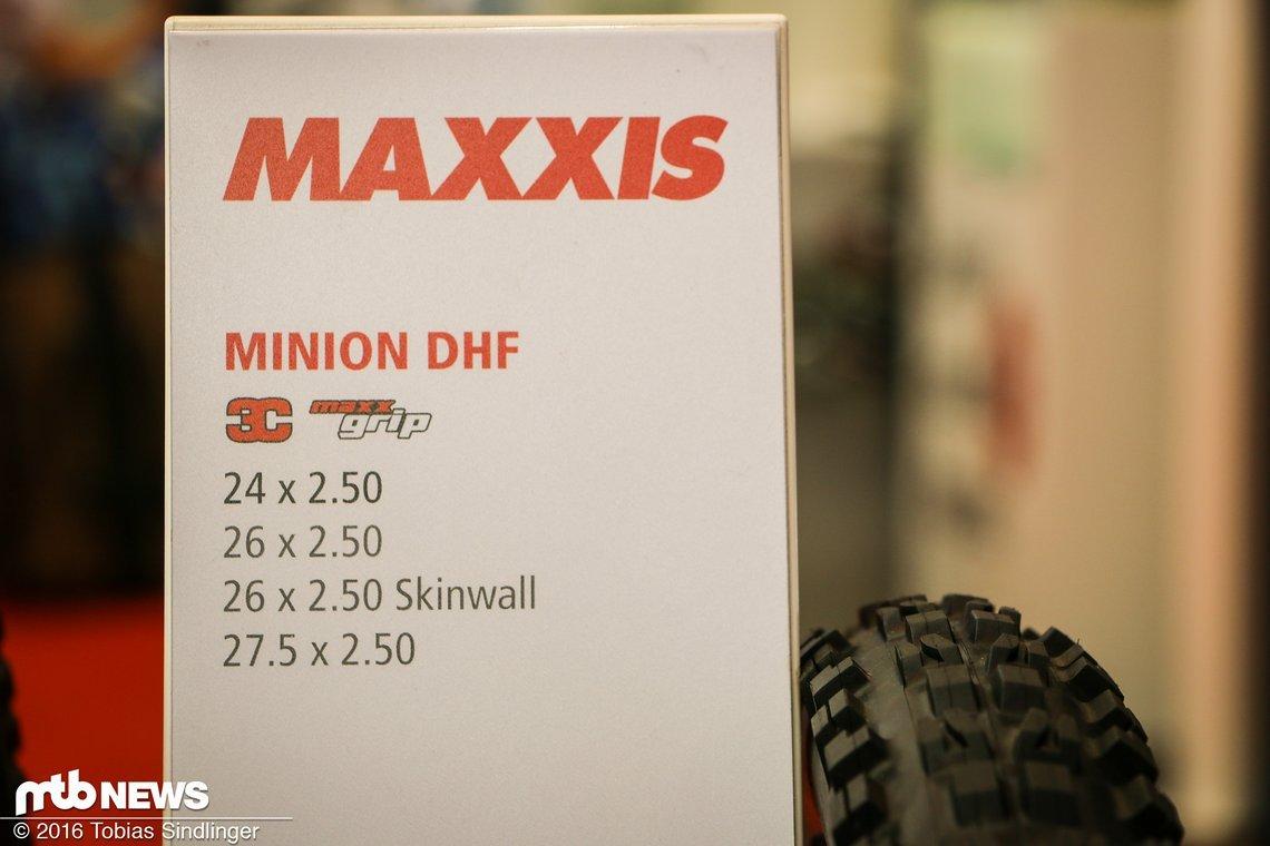Für den Nachwuchs gibt es den Minion DHF jetzt sogar in 24 Zoll.