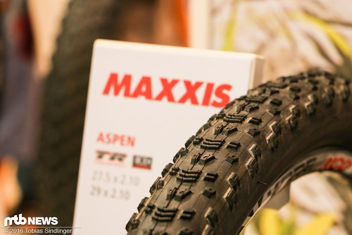 Der Aspen ist zwar nicht neu, sorgte bei Olympia aber für Aufsehen: Nino Schurter gewann auf dem Maxxis-Pneu Gold in Rio. Der Schweizer war allerdings auf einem Prototypen des Aspen unterwegs.