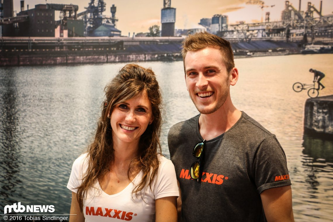 Gute Stimmung am Maxxis-Stand!