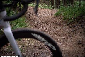 Zur Teststrecke gehörten auch steinige, felsige Downhillpassagen …
