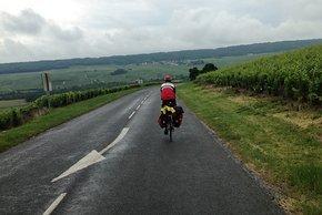 Die Hügel und das Wetter erschweren die Tour