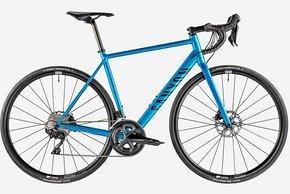 Das Canyon AL Disc 7 kommt mit kompletter Shimano 105 Gruppe und DT Swiss Laufrädern.