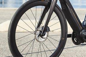 Scheibenbremsen mit 160 mm Scheiben vorne und hinten – Carbon-Laufräder nur am Top-Modell 28.7