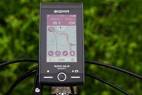 … und der ROX.12 berechnet eine passende Route …