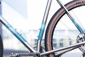 Der Rahmen bietet Platz für Reifen bis 50 mm in 700c