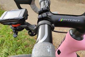 Halter für den Cateye GPS-Radcomputer und die Cycliq Dashcam-Leuchte