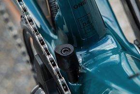 Alle Roadmachine X mit Carbonrahmen kommen mit 1x Antrieb und zusätzlichem  Schutz vor Kettenabwurf.