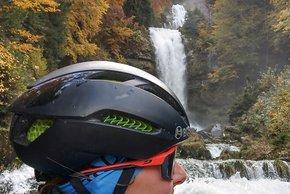 Blick auf die Wasserfälle neben dem Grandhotel ...