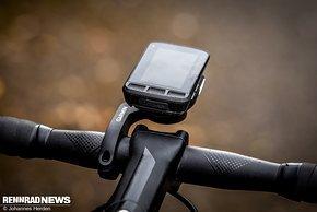 Durch die schmale Form verschwindet die Lumaray unter den meisten Bike-Computern