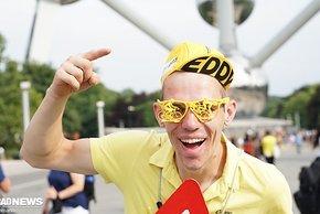 Auch ein Supporter, für alle belgischen Fahrer, sagt er