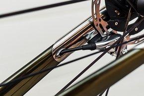 Die Ausfallenden der Gabel sind ebenfalls aus Titan 3D-Druck.