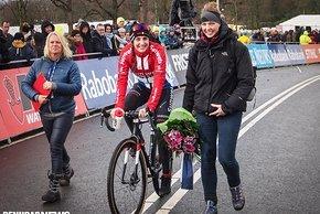 Lucinda Brand freute sich über den Sieg in Hoogerheide