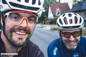 … auf den letzten 30 km gab es Unterstützung von Kollege Marcus
