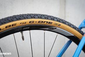 Alle Modelle rollen auf Schwalbe G-One Allround Reifen in 40 mm