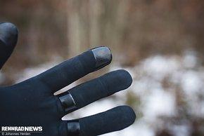 Die Fingerkuppen sind Smartphone-tauglich
