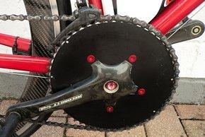 Leichter und aerodynamischer gemacht: Campagnolo Record Kurbel