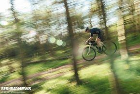 Aber richtig absetzen von vielen anderen Gravel Bikes kann sich das Grizl auf leichten Trails