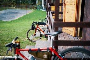 Eigene Holzhütte mit eigenem Parkplatz
