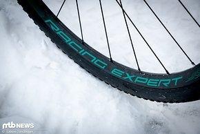 Gleiche Laufräder wie beim Mission CX: Die Fulcrum 700 Racing DB-Räder sind für die breiteren Reifen im Gravel-/Crosseinsatz optimiert