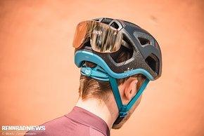 Auch in Sachen mögliche Brillengarage ist die Devour nicht auf den Rennrad-Style beschränkt.