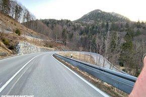 Abfahrt nach dem Kesselbergpass