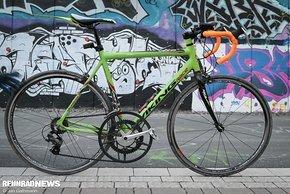 Andys Rennrad – natürlich auch mit großem Blatt