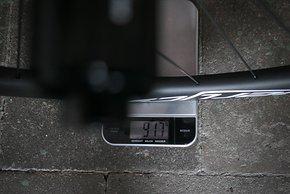 Hinterrad: 917 g, jeweils inklusive Ventile und Tubeless-Band