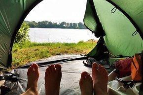Zelten an der Elbe