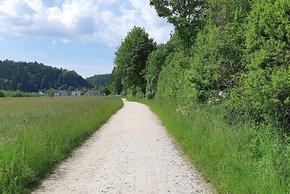 Einsame Pisten im ehemaligen Grenzgebiet an der deutsch-deutschen Grenze.