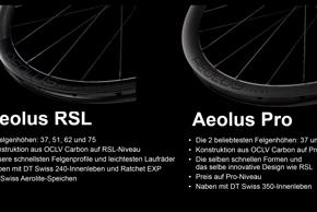 Die Bontrager Aeolus Pro Version wird mit der gleichen Felgenform ausgestattet